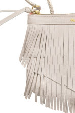 Fringed shoulder bag - Light beige -  | H&M CN 3