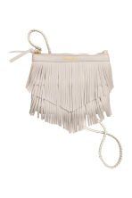 Fringed shoulder bag - Light beige -  | H&M CN 1