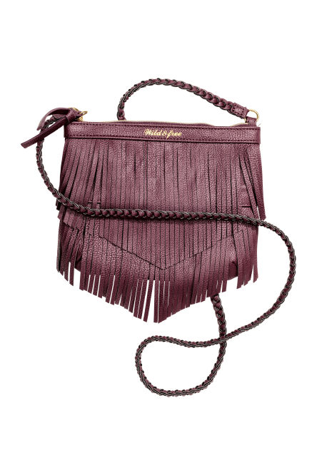 Fringed shoulder bag