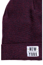 Fine-knit hat - Burgundy marl - Kids | H&M CN 2