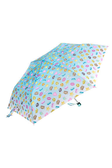 Patterned umbrella - Light blue/Emoji - Kids | H&M CN 1