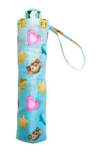 Patterned umbrella - Light blue/Emoji - Kids | H&M CN 2