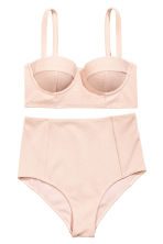 Textured bikini - Powder pink - Ladies | H&M CN 1