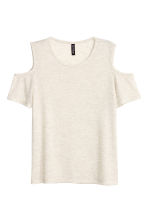 Fine-knit top - Light grey-beige - Ladies | H&M CN 2
