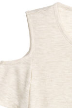 Fine-knit top - Light grey-beige - Ladies | H&M CN 3