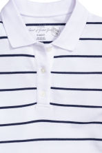 Polo shirt - White/Striped - Ladies | H&M CN 3