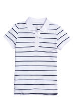 Polo shirt - White/Striped - Ladies | H&M CN 2