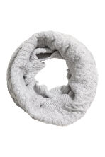 Tube scarf in a textured knit - Grey marl -  | H&M CN 1