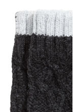 Knitted gloves - Black marl - Kids | H&M CN 2