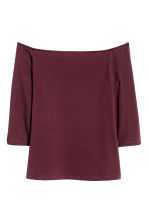H&M+ Off-the-shoulder top - Burgundy - Ladies | H&M CN 2