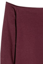 H&M+ Off-the-shoulder top - Burgundy - Ladies | H&M CN 3