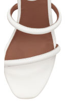 Leather sandals - White - Ladies | H&M CN 4