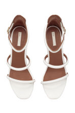 Leather sandals - White - Ladies | H&M CN 3
