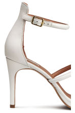 Leather sandals - White - Ladies | H&M CN 5