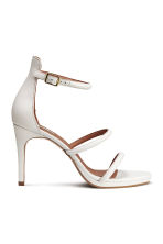 Leather sandals - White - Ladies | H&M CN 2