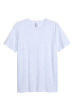 Nepped T-shirt Regular fit - Light blue marl - Men | H&M CN 2