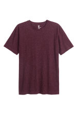 Nepped T-shirt Regular fit - Burgundy marl - Men | H&M CN 2