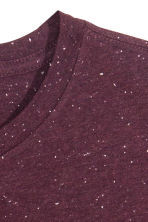 Nepped T-shirt Regular fit - Burgundy marl - Men | H&M CN 3