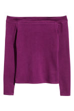 Off-the-shoulder top - Dark purple - Ladies | H&M CN 2