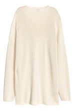 Knitted turtleneck jumper - Natural white - Ladies | H&M CN 2