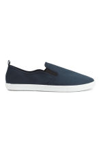 Slip-on trainers - Dark blue - Men | H&M 4