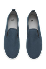 Slip-on trainers - Dark blue - Men | H&M 3