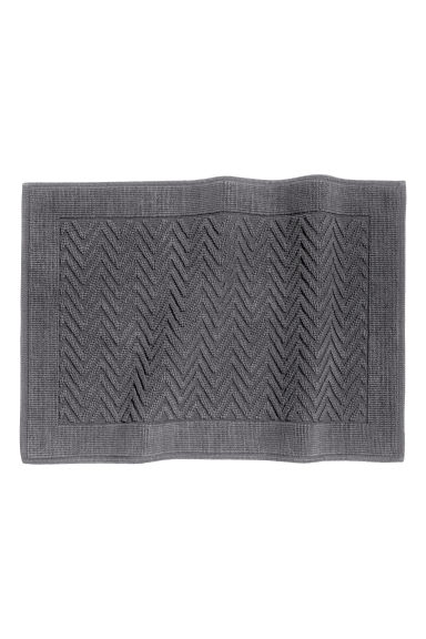 Tappetino jacquard - Grigio scuro - HOME | H&M IT