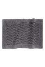 Jacquard-weave bath mat - Dark grey - Home All | H&M CN 1