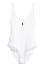 Body with lacing - White - Ladies | H&M CN 1
