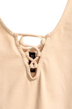 Body with lacing - Beige - Ladies | H&M GB 3