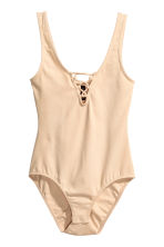 Body with lacing - Beige - Ladies | H&M GB 2