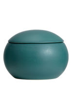 Round stoneware box - Petrol - Home All | H&M GB 2