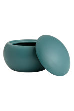Round stoneware box - Petrol - Home All | H&M CN 3