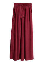 Crinkled skirt - Burgundy - Ladies | H&M CN 2