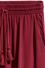 Crinkled skirt - Burgundy - Ladies | H&M CN 3