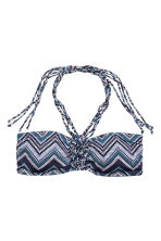 Bandeau bikini top - Dark blue/Mosaic - Ladies | H&M CN 2