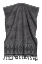 Hand towel with embroidery - Dark grey - Home All | H&M CN 2