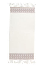 Bath towel with embroidery - White - Home All | H&M CN 3