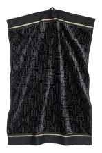 Jacquard-weave towel - Black - Home All | H&M CN 1