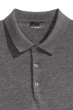 Silk-blend polo shirt - Dark grey marl - Men | H&M CN 3