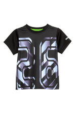 Short-sleeved sports top - Black - Kids | H&M CN 2