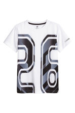 Short-sleeved sports top - White - Kids | H&M CN 2