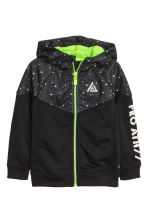 Sports jacket with a hood - Black - Kids | H&M CN 2