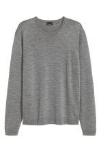 Merino wool jumper - Grey marl - Men | H&M CN 2
