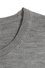 Merino wool jumper - Grey marl - Men | H&M CN 3