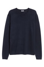 Merino wool jumper - Dark blue - Men | H&M IE 2