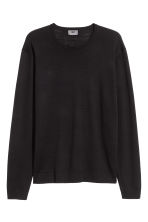 Merino wool jumper - Black - Men | H&M 2