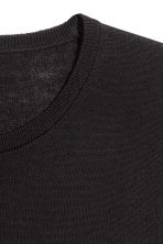 Merino wool jumper - Black - Men | H&M 3