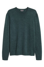 Merino wool jumper - Dark petrol - Men | H&M CN 2