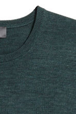 Merino wool jumper - Dark petrol - Men | H&M CN 3
